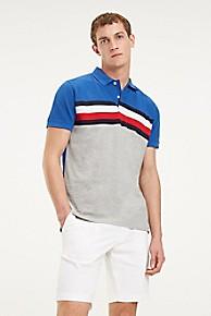타미 힐피거 Tommy Hilfiger Pique Cotton Stripe Polo