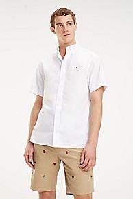타미 힐피거 Tommy Hilfiger Short-Sleeve Cotton Poplin Shirt