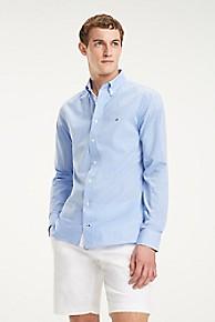 타미 힐피거 Tommy Hilfiger Regular Fit Cotton Dobby Gingham Shirt,REGATTA / BRIGHT WHITE