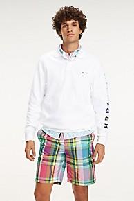 타미 힐피거 Tommy Hilfiger Long-Sleeve Polo,BRIGHT WHITE