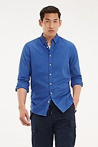 타미 힐피거 Tommy Hilfiger Stretch Cotton Garment Dyed Shirt