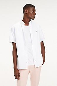 타미 힐피거 Tommy Hilfiger Short-Sleeve Stretch Poplin Shirt