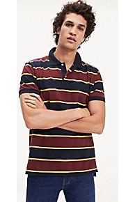 타미 힐피거 Tommy Hilfiger Multi Stripe Regular Fit Polo,TAWNY PORT / SKY CAPTAIN / MULTI