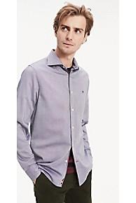 타미 힐피거 Tommy Hilfiger 4-Way Stretch Slim Fit Shirt