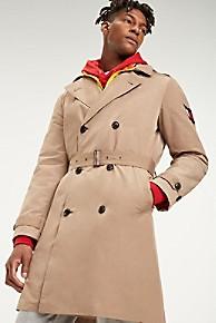 타미 힐피거 Tommy Hilfiger Removable Hood Trench Coat,DARK DUNE TAN