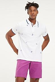 타미 힐피거 Tommy Hilfiger Pique Cotton Surf Polo,BRIGHT WHITE