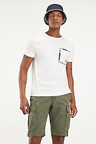 타미 힐피거 Tommy Hilfiger Organic Cotton Pocket T-Shirt,SNOW WHITE