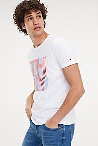 타미 힐피거 Tommy Hilfiger Organic Cotton THNY T-Shirt,BRIGHT WHITE
