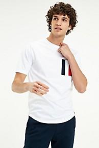 타미 힐피거 Tommy Hilfiger Regal Stripe Pocket T-Shirt,BRIGHT WHITE