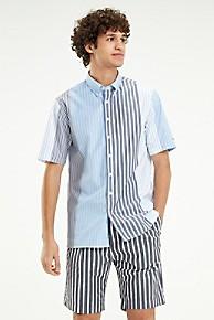 타미 힐피거 Tommy Hilfiger Crisp Poplin Relaxed Fit Shirt,CORNFLOWER BLUE / MULTI