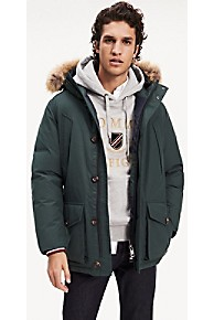 타미 힐피거 Tommy Hilfiger Down Hooded Parka