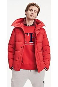 타미 힐피거 Tommy Hilfiger Stretch Nylon Hooded Puffer Jacket