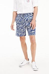 타미 힐피거 Tommy Hilfiger Tropical Print Short,BLUE QUARTZ
