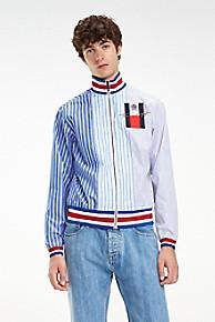 타미 힐피거 Tommy Hilfiger Shirting Stripe Jacket,SURF THE WEB BLUE