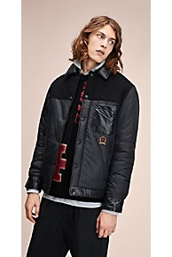 타미 힐피거 Tommy Hilfiger 타미 힐피거 Hilfiger Collection Crest Multimedia Jacket,JET BLACK