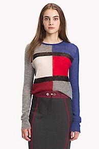 타미 힐피거 Tommy Hilfiger Tommy Flag Sweater,GREY