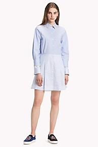 타미 힐피거 Tommy Hilfiger Iconic Stripe Shirt Dress,FOREVER BLUE