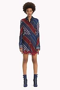 타미 힐피거 Tommy Hilfiger Lace Shirt Dress,ECLIPSE STRIPE