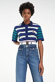 타미 힐피거 Tommy Hilfiger Multi-Stripe Polo,MEDIEVAL BLUE MULTI