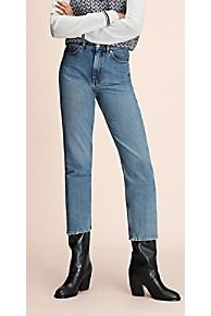 타미 힐피거 Tommy Hilfiger 타미 힐피거 Hilfiger Collection Crest Straight Fit Jean,VINTAGE WASHED DENIM
