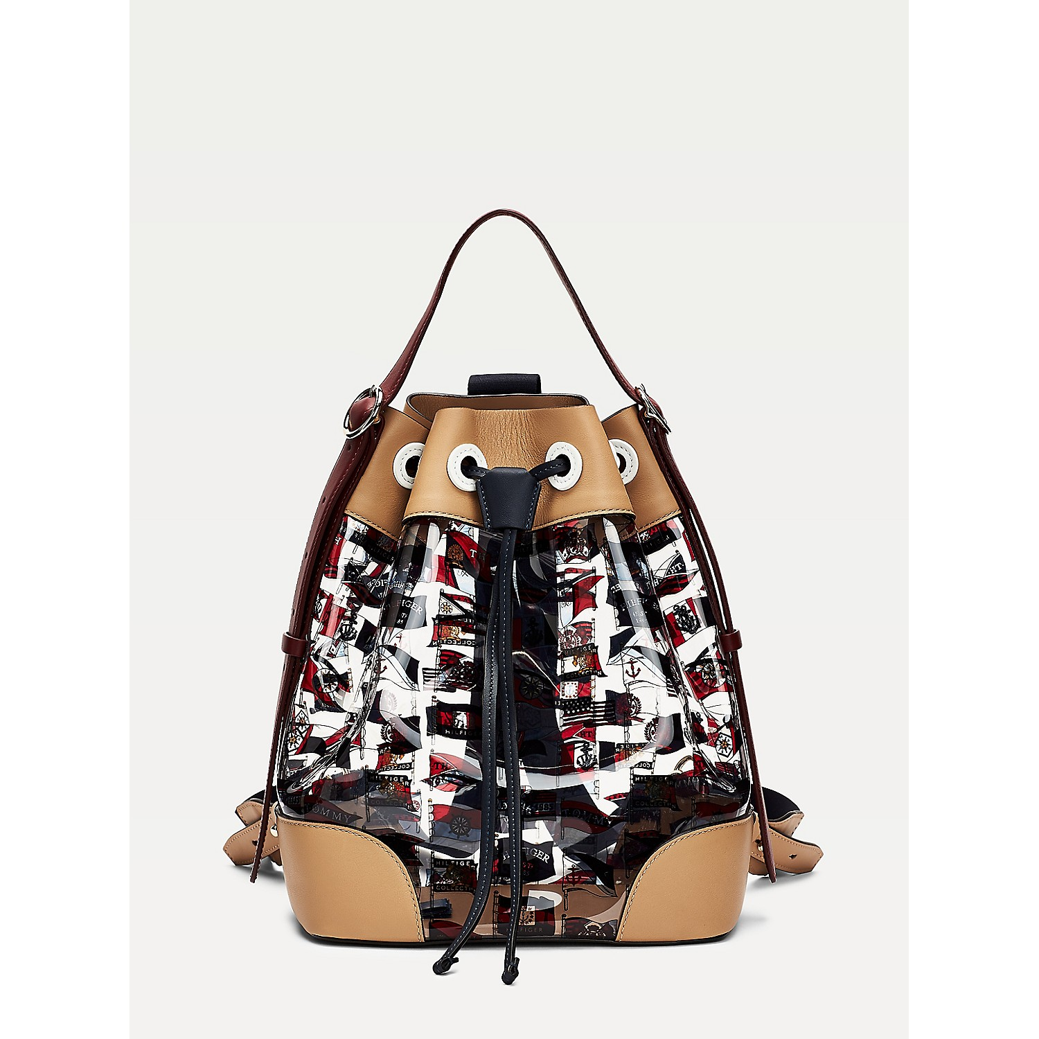 Tommy hilfiger Flag Print Bucket Bag
