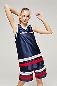 타미 힐피거 우먼 탱크 탑 Tommy Hilfiger Tommy Sport Basketball Tank