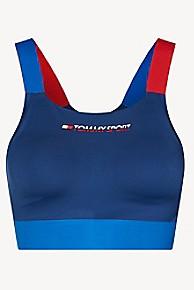 타미 힐피거 Tommy Hilfiger Tommy Sport Biking Crop Top,NAVY PEONY