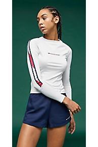 타미 힐피거 우먼 타미 스포츠 로고 티셔츠 Tommy Hilfiger Tommy Sport Logo Base Layer Top