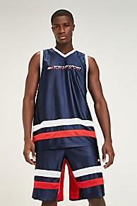 타미 힐피거 Tommy Hilfiger Tommy Sport Basketball Tank,SPORT NAVY