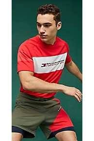 타미 힐피거 Tommy Hilfiger Tommy Sport Recycled Mesh T-Shirt