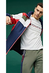 타미 힐피거 Tommy Hilfiger Tommy Sport Colorblock Jacket,SPORT NAVY