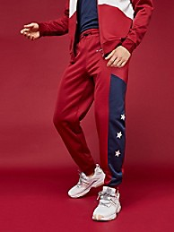타미 힐피거 Tommy Hilfiger Cuffed Track Pant,BIKING RED