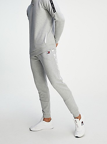타미 힐피거 Tommy Hilfiger Warm-Up Fleece Jogger,GREY HEATHER