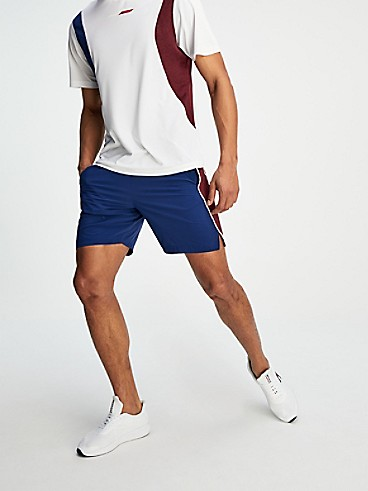 타미 힐피거 Tommy Hilfiger Colorblock Woven Short,BLUE INK