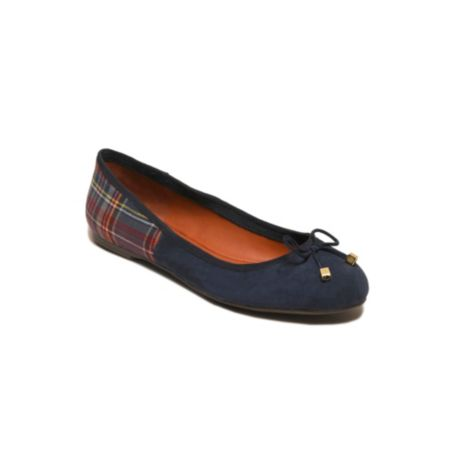 Image for MIXED MATERIAL PIECED BALLET FLAT from Tommy Hilfiger USA