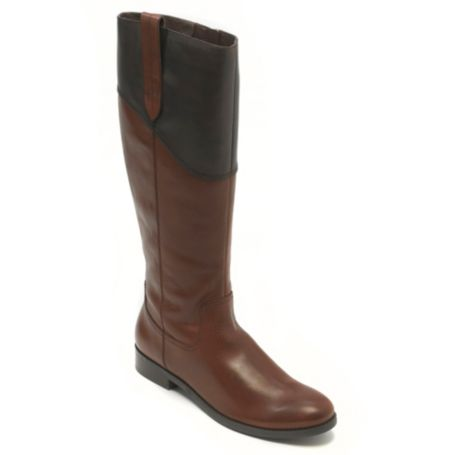 Image for PIECED FLAT LEATHER RIDING BOOT from Tommy Hilfiger USA