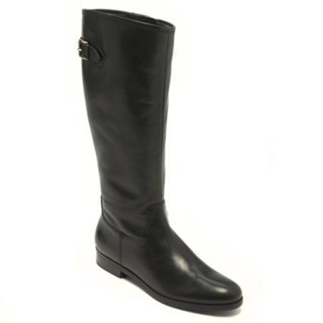 Image for SOLID LEATHER FLAT BOOT from Tommy Hilfiger USA