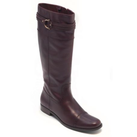 Image for LEATHER FLAT PERF TOE BOOT from Tommy Hilfiger USA
