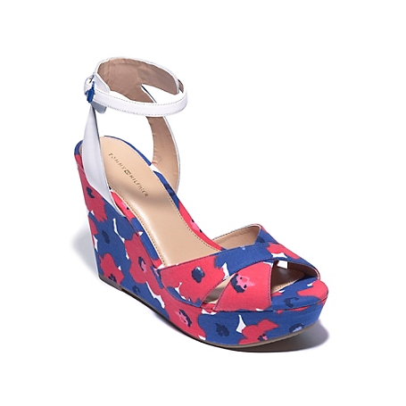 Tommy Hilfiger Ankle Strap Wedge - Multi-Color - 6.5M