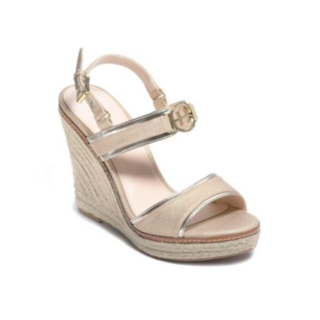 Image for METALLIC LINEN WEDGE from Tommy Hilfiger USA