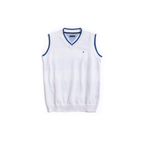 Image for BACK STRIPE SWEATER VEST from Tommy Hilfiger USA
