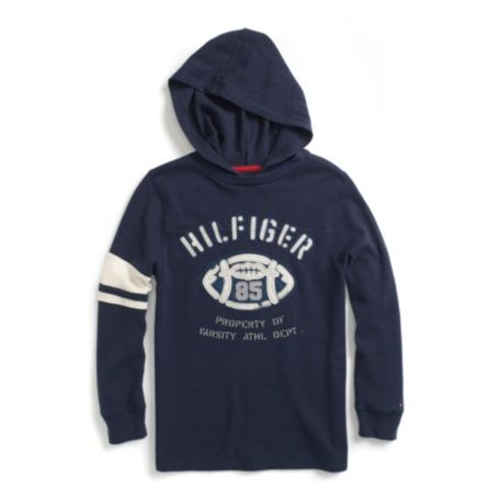Image for HOODED FOOTBALL TEE from Tommy Hilfiger USA