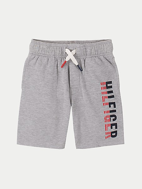 타미 힐피거 키즈  반바지 Tommy Hilfiger TH Kids Logo Short,GREY HEATHER
