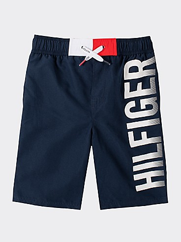 타미 힐피거 Tommy Hilfiger TH Kids Hilfiger Swim Trunk,NAVY BLAZER