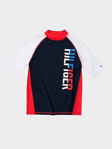 타미 힐피거 Tommy Hilfiger TH Kids Rash Guard,NAVY BLAZER