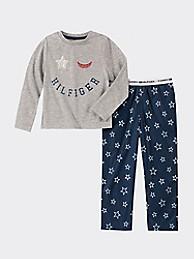 타미 힐피거 걸스 잠옷세트 Tommy Hilfiger TH Kids Star Sleep Set,GREY HEATHER