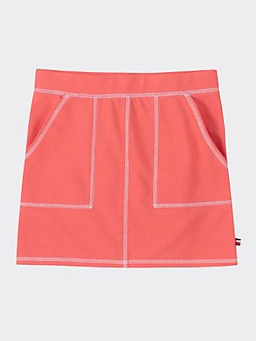 타미 힐피거 Tommy Hilfiger TH Kids Utility Skirt,SUGAR CORAL