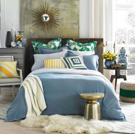 Image for MODERN SANDS CHAMBRAY COMFORTER from Tommy Hilfiger USA