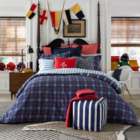 Tommy Hilfiger Bedding. Tommy Hilfiger's style can be traced back to the preppy classics of the early 20th century. The company makes apparel for men, women, and children, in addition to accessories such as fragrances and home furnishings.