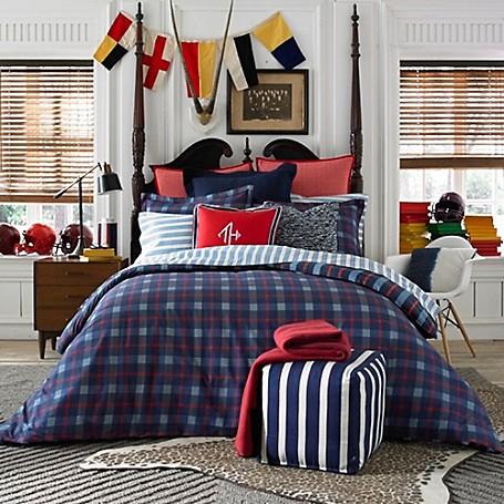 Boston Plaid Comforter Set Tommy Hilfiger Usa